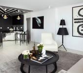 Intérieur design élégant appartement en noir et blanc