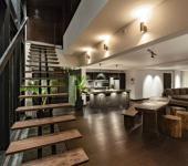 mobilier rustique duplex intérieur