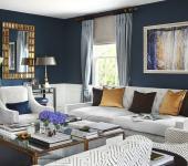séjour living room bleu marin design original