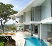 architecture résidentielle de luxe exotique vue sur l'océan vacances
