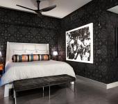exemple décoration intérieur chambre moderne en gris