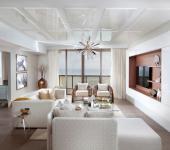 Intérieur glamour d'un appartement moderne chic