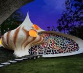 maison atypique coquillage nautilus mexique