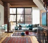 intérieur rénové maison mitoyenne de ville luxe