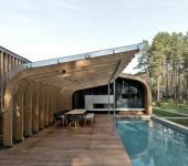 maison architecte moderne en bois