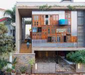 maison de ville éclectique architecture moderne