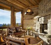 résidence de luxe montagne rustique