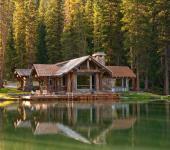 belle demeure près d'un lac esprit rustique