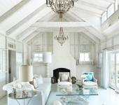 living room en bois maison de vacances