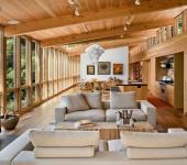 séjour maison en bois rustique moderne
