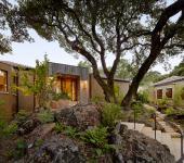 belle maison moderne ne plein nature