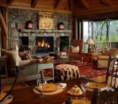intérieur rustique résidence secondaire de luxe