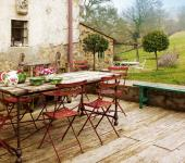 intérieur design rustique terrasse