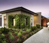 vue générale de la maison verte écologique