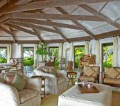 séjour moderne exotique villa de luxe