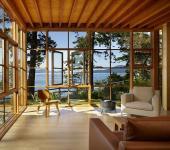 maison en bois résidence secondaire lac