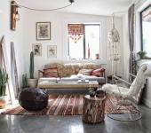 design intérieur rétro maison de vacances