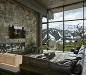 chalet de ski design rustique luxueux