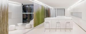 appartement design intérieur futuriste luxe minimaliste en blanc