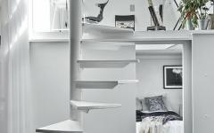 escalier intérieur en colimaçon design blanc