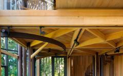 mezzanine chambre à coucher transformer maison en bois