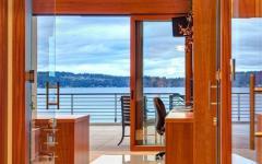 intérieur moderne design vue sur lac