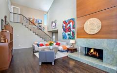 intérieur moderne tendance maison avec vue