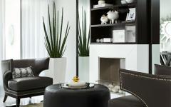 salon aux mobilier chic et élégant design