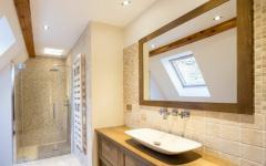 salle de bains rustique maison rénovée