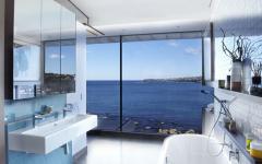 belle salle de bain aménagement luxe vue