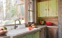 cuisine placards rustique écaillés chalet