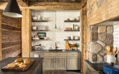 belle cuisine rustique vintage retro maison secondaire montagne