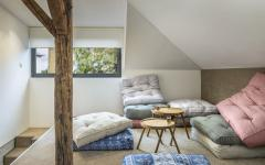 espace aménagé sous toit appartement duplex