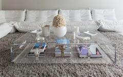 table basse design intérieur blanc