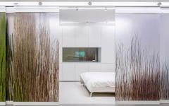 chambre à coucher panneaux coulissants design luxe