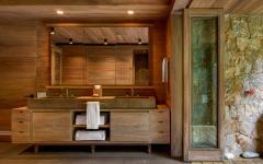 design bois salle de bain luxe