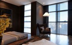 chambre design ameublement marron