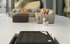 séjour canapé d'angle design élégant sobre