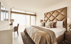 tête de lit original capitonné chambre moderne