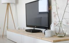 placard bas plasma écran plat ameublement design scandinave appartement