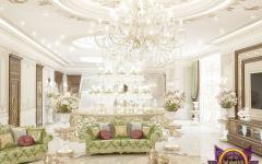 séjour luxueux canapé oriental maison