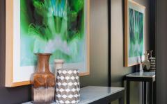 ameublement créatif couleurs sombres maison design