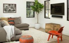 salon multimedia décor simple et chic