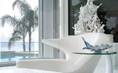 assise de design luxe en blanc villa de vacances