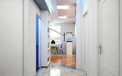 entrée vaste en blanc design appartement de ville
