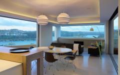 salle à manger et salon résidence de luxe ville