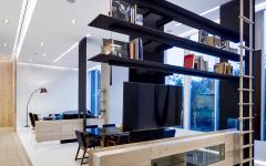 délimitation espace loft étagères