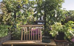 mobilier de terrasse extérieur jardin aménagement sur le toit