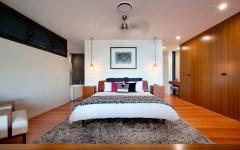 lit double déco chambre à coucher moderne