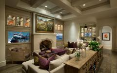salon principale grand séjour canapé luxe d'angle